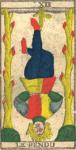 L'Appeso, il Penduto - Tarocchi di Nicolas Conver (1760) fondatore della Maison Camoin