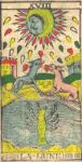 La Luna - Tarocchi di Nicolas Conver (1760) fondatore della Maison Camoin